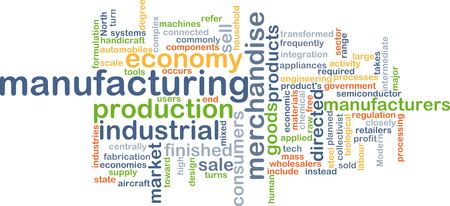 Background text pattern concept wordcloud illustration of manufacturing Stock Photo