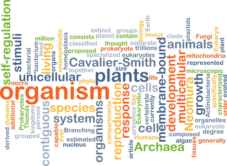 cell growth: Background text pattern concept wordcloud illustration of organism