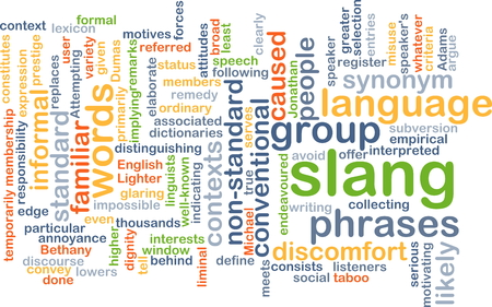 replaces: Background text pattern concept wordcloud illustration of slang language