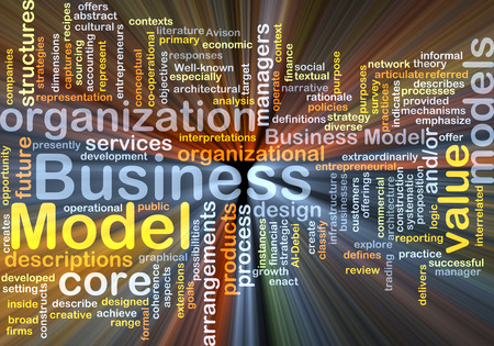 business model: Background concept wordcloud illustration of business model glowing light