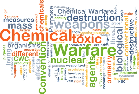 chemical weapon: Background text pattern concept wordcloud illustration of chemical warfare Stock Photo