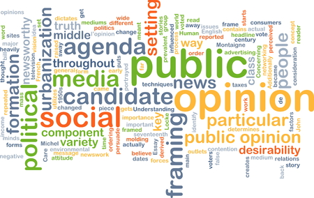 desirability: Background concept wordcloud illustration of public opinion Stock Photo