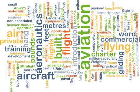 transported: Background concept wordcloud illustration of aviation