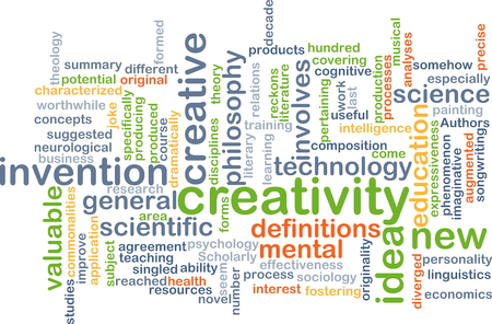 valuables: Background concept wordcloud illustration of creativity Stock Photo