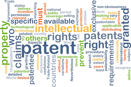 patent: Background concept wordcloud illustration of patent