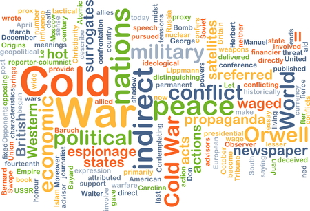 cold war: Background concept wordcloud illustration of cold war Stock Photo
