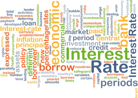 borrower: Background concept wordcloud illustration of interest rate