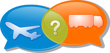 modes: Illustration concept clipart speech bubble dialog conversation negotiation argument Air land transport modes