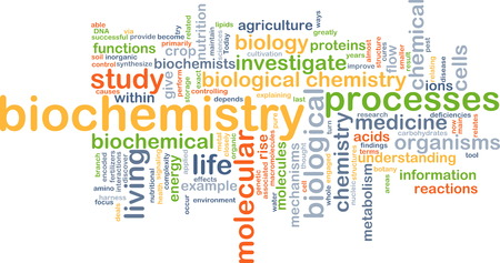 biochemistry: Background text pattern concept wordcloud illustration of biochemistry