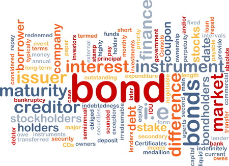 stockholders: Background text pattern concept wordcloud illustration of financial bond
