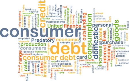 predatory: Background concept wordcloud illustration of consumer dept