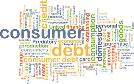 dept: Background concept wordcloud illustration of consumer dept