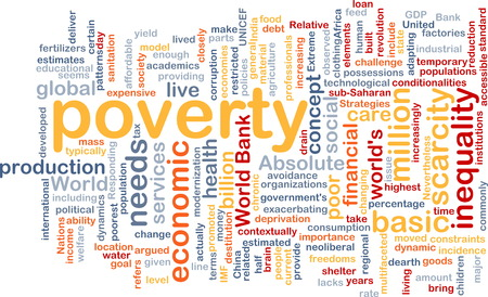 poverty: Background text pattern concept wordcloud illustration of poverty Stock Photo