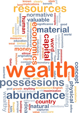 abundance: Background text pattern concept wordcloud illustration of wealth abundance Stock Photo