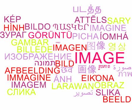 multilanguage: Background concept wordcloud multilanguage international many language illustration of image