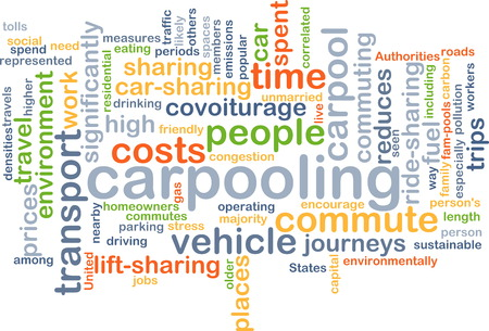 time sharing: Background text pattern concept wordcloud illustration of carpooling Stock Photo