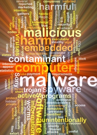 spyware: Background text pattern concept wordcloud illustration of malware software glowing light Stock Photo