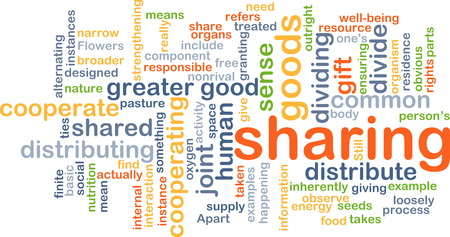 cooperate: Background text pattern concept wordcloud illustration of sharing