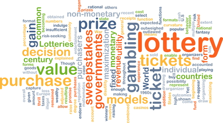 purchasers: Background concept wordcloud illustration of lottery
