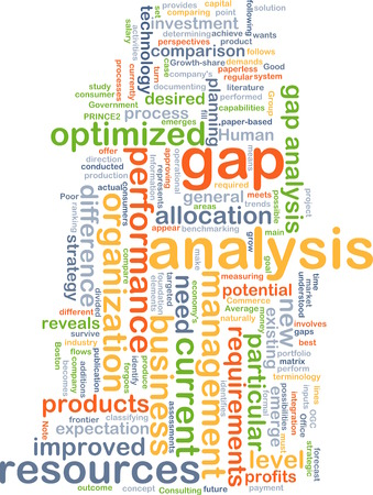 gap: Background text pattern concept wordcloud illustration of gap analysis