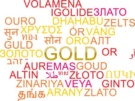 multilanguage: Background concept wordcloud multilanguage international many language illustration of gold
