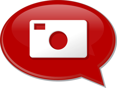 discussion forum: Word speech bubble illustration of discussion forum blog photography photo camera Stock Photo