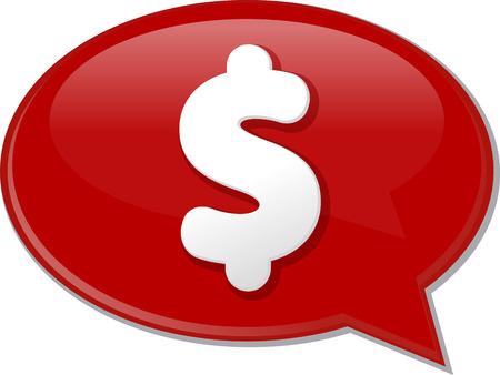 discussion forum: Word speech bubble illustration of discussion forum blog dollar money cash
