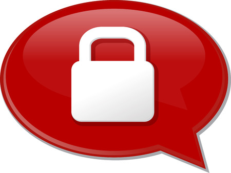 discussion forum: Word speech bubble illustration of discussion forum blog locked secure lock