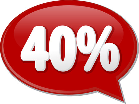 discussion forum: Word speech bubble illustration of discussion forum blog percent discount forty 40 Stock Photo