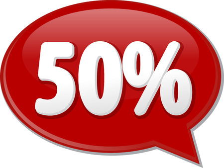 discussion forum: Word speech bubble illustration of discussion forum blog percent discount fifty 50 Stock Photo