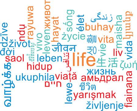 multilanguage: Background concept wordcloud multilanguage international many language illustration of life