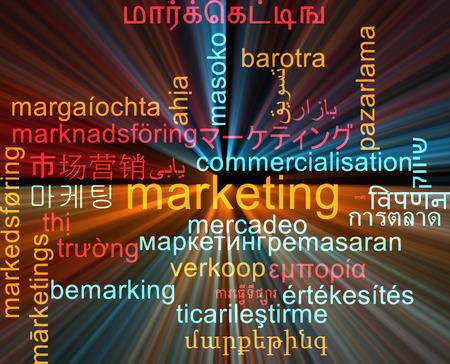 multilingual: Background concept wordcloud multilanguage international many language illustration of marketing glowing light
