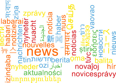 multilingual: Background concept wordcloud multilanguage international many language illustration of news