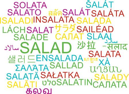 appetizers: Background concept wordcloud multilanguage international many language illustration of salad Stock Photo