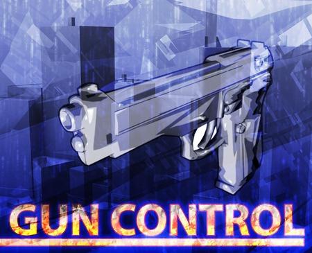 gun control: Abstract background digital collage concept illustration gun control