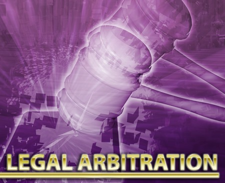 arbitration: Abstract background digital collage concept illustration legal arbitration court justice Stock Photo