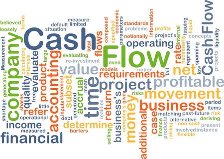 cash flow: Background concept wordcloud illustration of cash flow