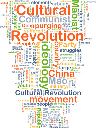 cultural: Background concept wordcloud illustration of Cultural Revolution