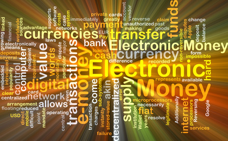 legitimate: Background concept wordcloud illustration of electronic money glowing light Stock Photo