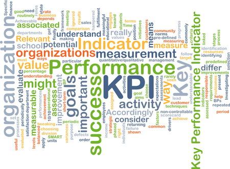 kpi: Background text pattern concept wordcloud illustration of KPI Key Performance Indicator Stock Photo