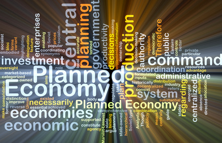 allocation: Background concept wordcloud illustration of planned economy glowing light Stock Photo