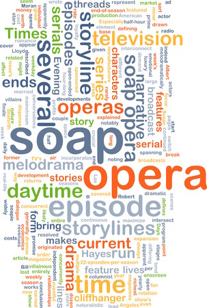 opera: soap opera wordcloud concept illustration