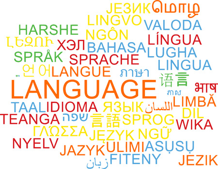 Background concept wordcloud multilanguage international many language illustration of language Reklamní fotografie