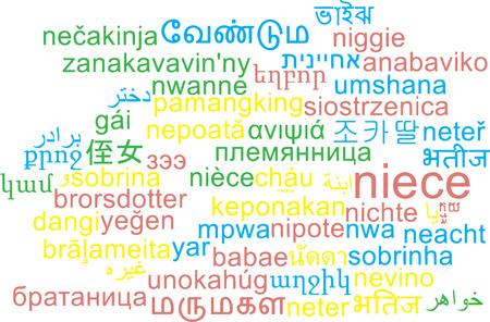 multilanguage: Background concept wordcloud multilanguage international many language illustration of niece