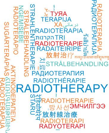 radiotherapy: Background concept wordcloud multilanguage international many language illustration of radiotherapy Stock Photo