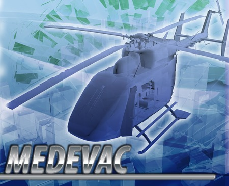 Abstract background digital collage concept illustration medevac medical evacuation
