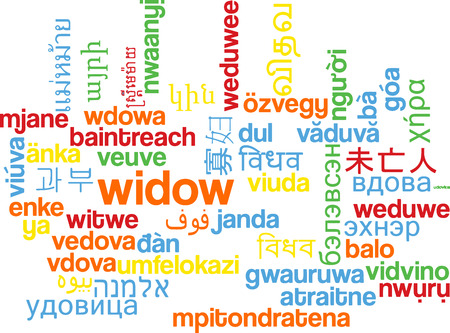 widow: Background concept wordcloud multilanguage international many language illustration of widow