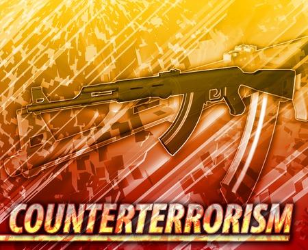 insurgency: Abstract background digital collage concept illustration counterterrorism terrorism