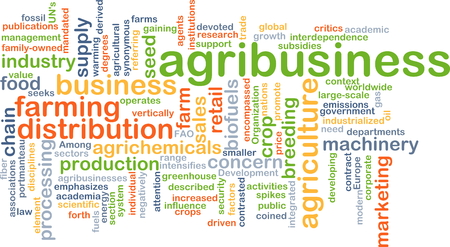 agribusiness: Background concept wordcloud illustration of agribusiness Stock Photo
