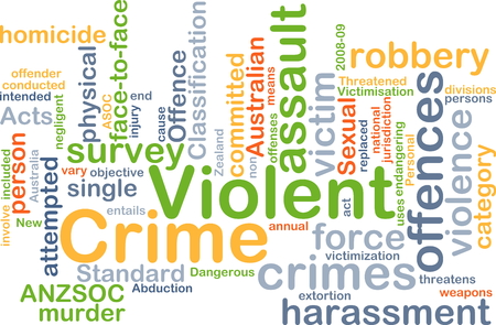 attempted: Background concept wordcloud illustration of violent crime